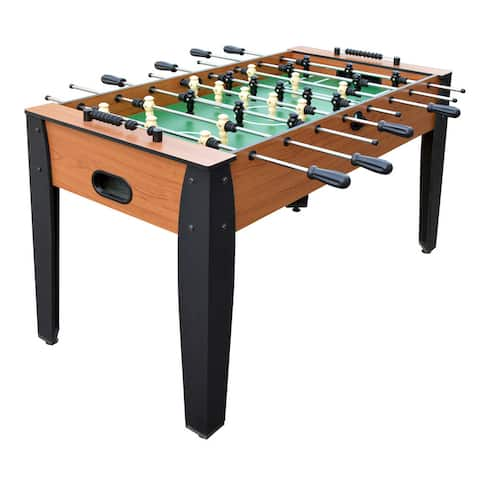 Hurricane 54-Inch Foosball Table for Family Game Rooms with Light Cherry Finish