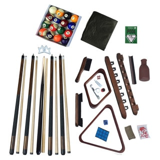Deluxe Billiards Accessory Kit Walnut Finish