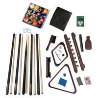 Deluxe Billiards Accessory Kit Walnut Finish