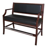 Hampton Club Spectator Bench Walnut Finish