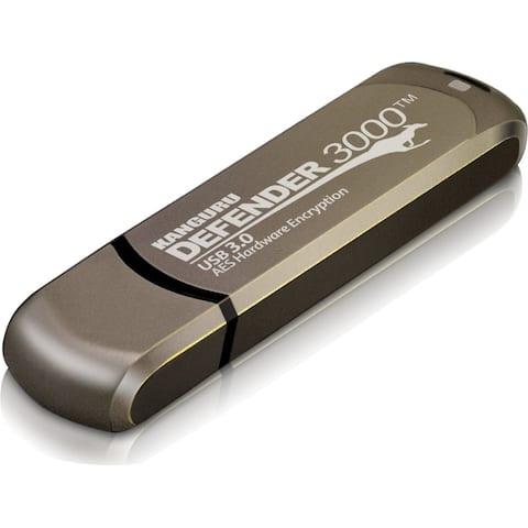 Kanguru Defender3000 FIPS 140-2 Certified Level 3, SuperSpeed USB 3.0 Secure Flash Drive, 32G