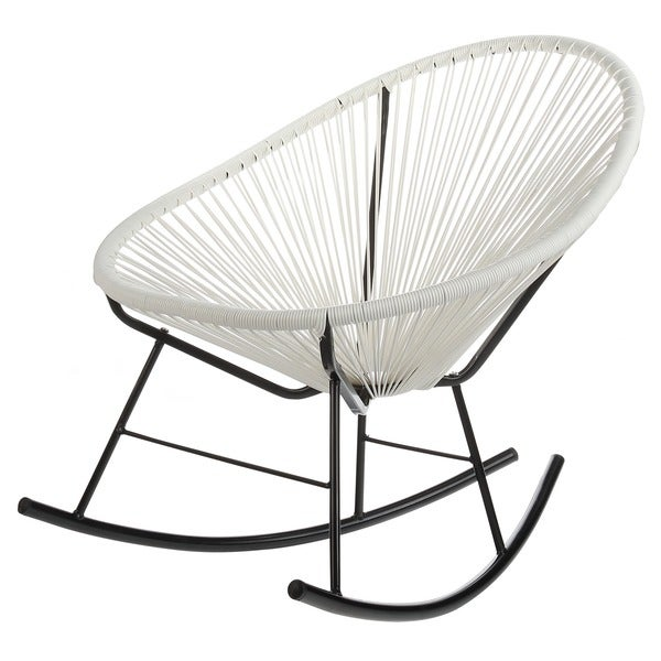 white outdoor rocking chair. Handmade Acapulco White Indoor/ Outdoor Rocking Chair (China) C