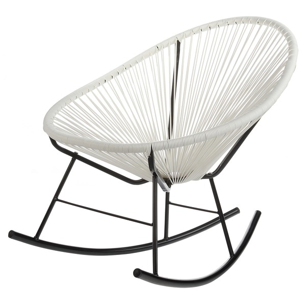 Acapulco White Indoor/ Outdoor Rocking Chair - Free Shipping Today ...