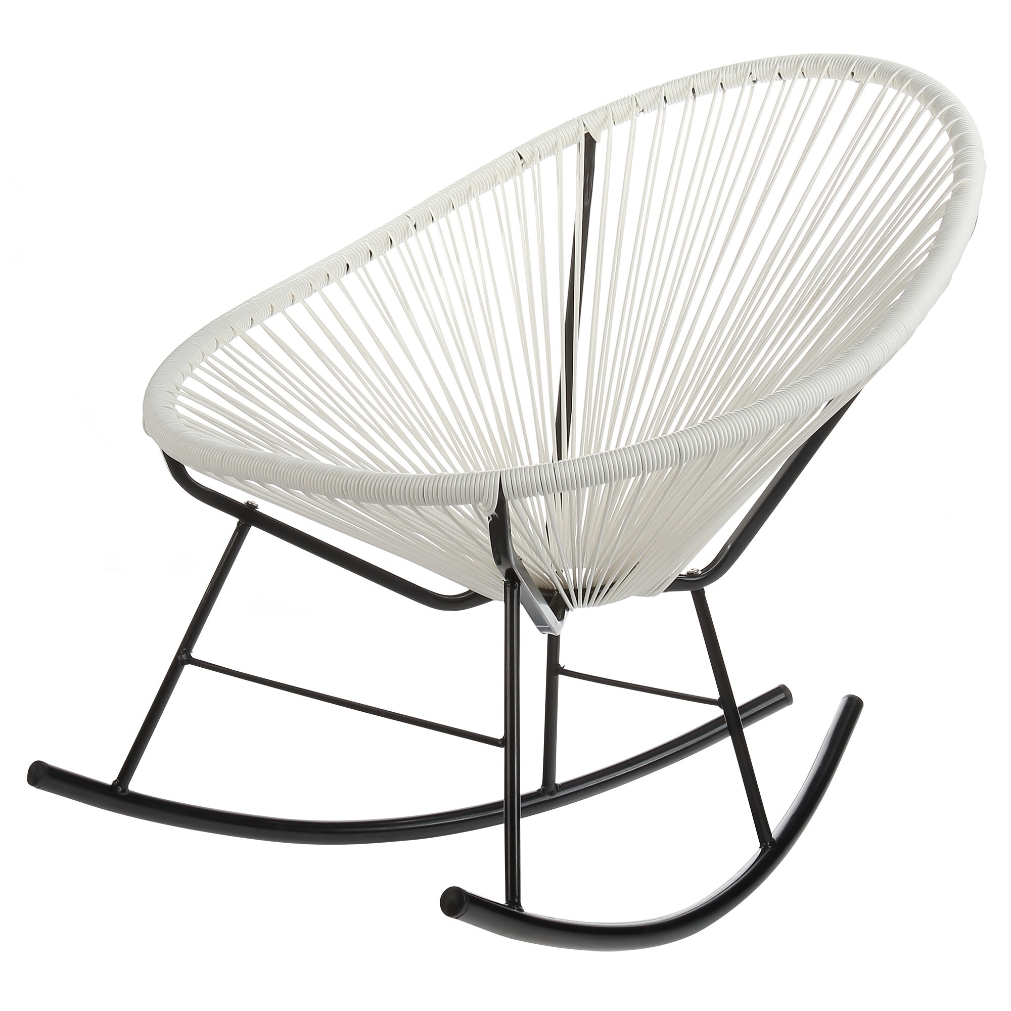 Polyvaz Acapulco White Indoor/ Outdoor Rocking Chair (Aca...