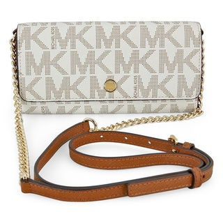 Michael Kors MK Signature Vanilla Wallet On a Chain