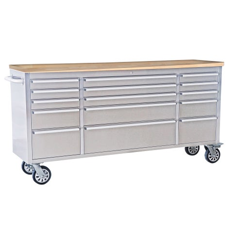 Thor 72-inch Wheeled Tool Chest with Multi Storage and Work Table