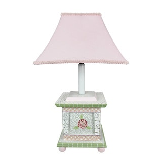 Teamson Fantasy Fields Crackled Rose Table Lamp