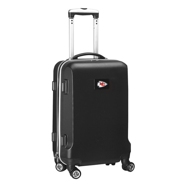 Denco Sports NFL Kansas City Chiefs 20-inch Carry-on Spinner Upright Suitcase