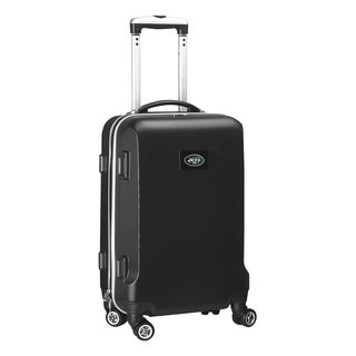Denco Sports NFL New York Jets Black 20-inch Carry-on Spinner Upright Suitcase