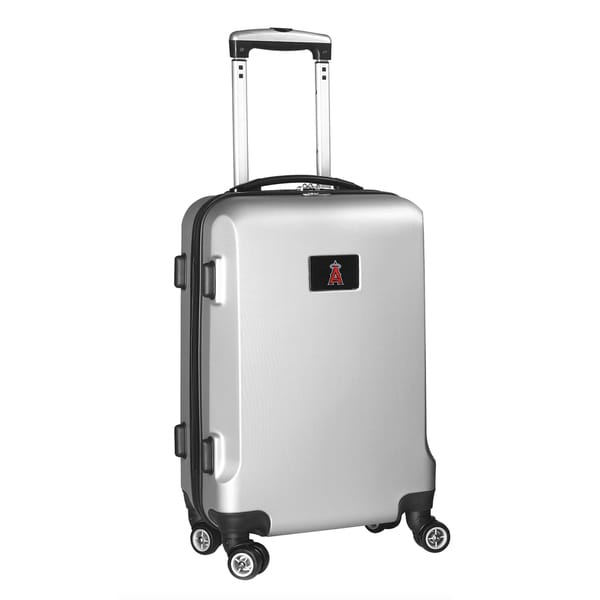 Denco Sports MLB Los Angeles Angels 20-inch Hardside Carry-on Spinner Upright Suitcase