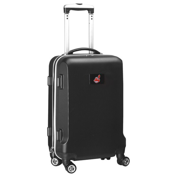 Denco Sports MLB Cleveland Indians 20-inch Hardside Carry-on Spinner Upright Suitcase