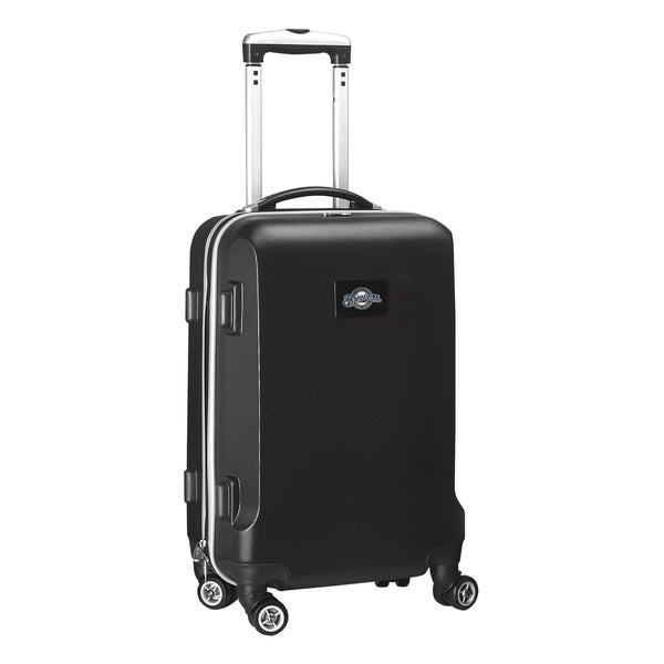 Denco Sports MLB Milwaukee Brewers 20-inch Hardside Carry-on Spinner Upright Suitcase