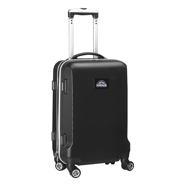 Denco Sports MLB Colorado Rockies 20-inch Hardside Carry-on Spinner Upright Suitcase