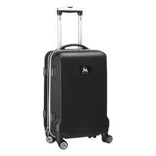 Denco Sports MLB Miami Marlins 20-inch Hardside Carry-on Spinner Upright Suitcase
