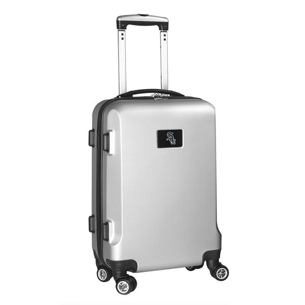 Denco Sports MLB Chicago White Sox 20-inch Hardside Carry-on Spinner Upright Suitcase