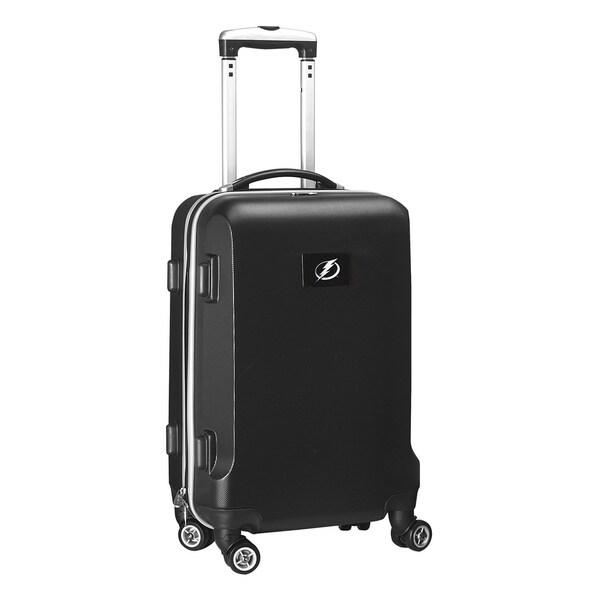 Denco Sports NHL Tampa Bay Lightning 20-inch Hardside Carry-on Spinner Upright Suitcase