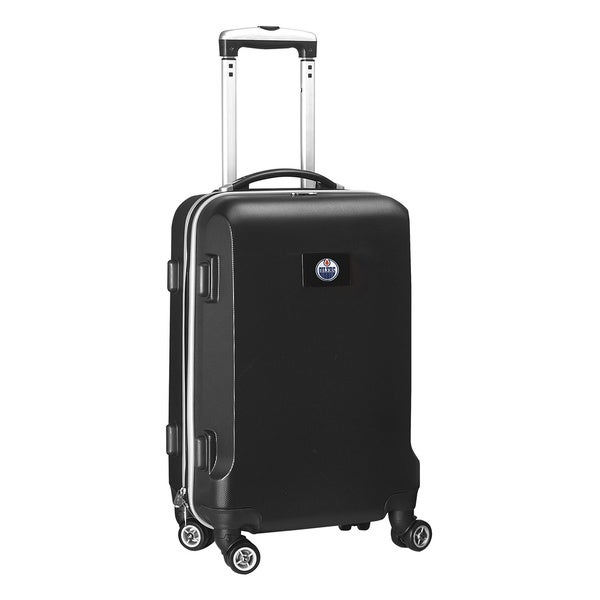 Denco Sports NHL Edmonton Oilers 20-inch Hardside Carry-on Spinner Upright Suitcase