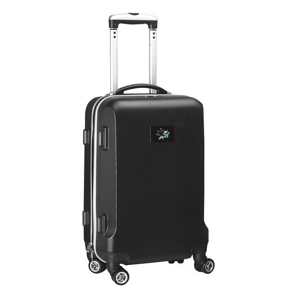 Denco Sports NHL San Jose Sharks 20-inch Hardside Carry-on Spinner Upright Suitcase