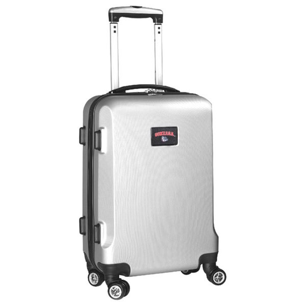 Denco Sports NCAA Gonzaga Bulldogs 20-inch Hardside Carry-on Spinner Upright Suitcase
