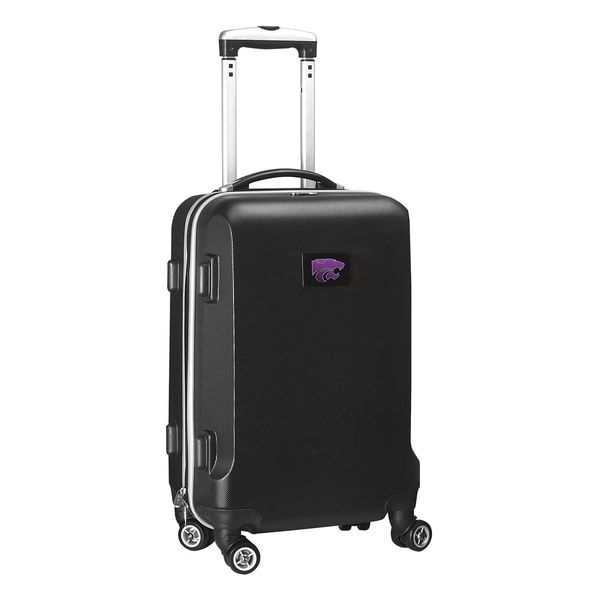 Denco Sports NCAA Kansas State Wildcats 20-inch Hardside Carry-on Spinner Upright Suitcase