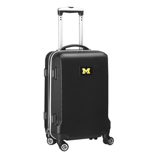 Denco Sports NCAA Michigan Wolverines 20-inch Hardside Carry-on Spinner Upright Suitcase