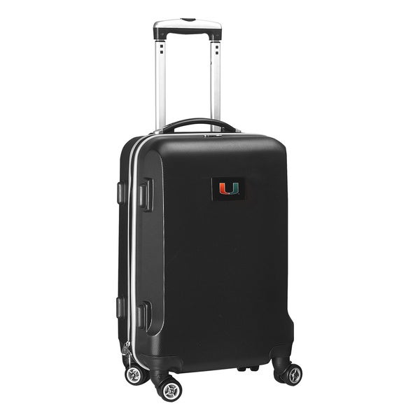 Denco Sports NCAA Miami Hurricanes 20-inch Hardside Carry-on Spinner Upright Suitcase