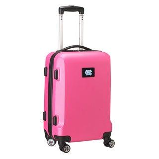 Denco Sports NCAA North Carolina Tar Heels 20-inch Hardside Carry-on Spinner Upright Suitcase