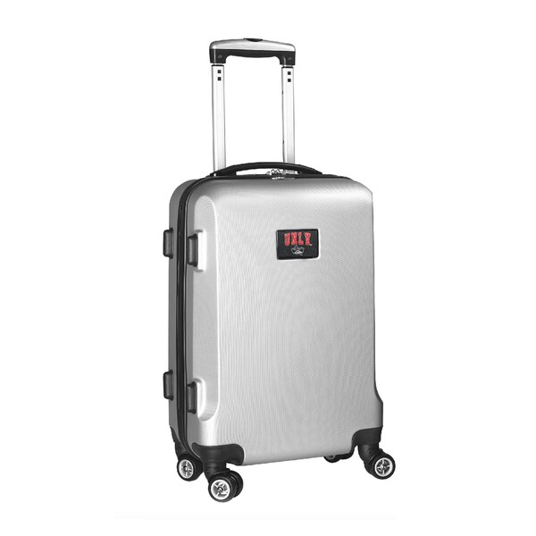 Denco Sports NCAA UNLV Rebels 20-inch Hardside Carry-on Spinner Upright Suitcase
