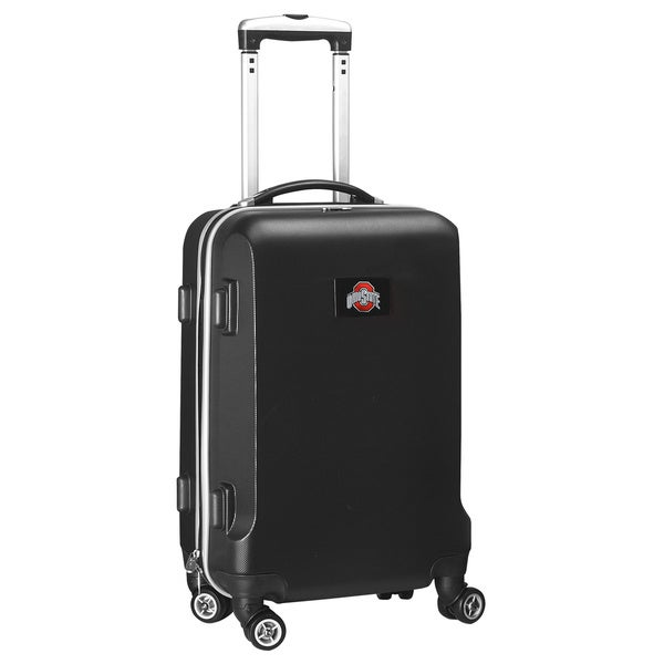 Denco Sports NCAA Ohio State Buckeyes 20-inch Hardside Carry-on Spinner Upright Suitcase