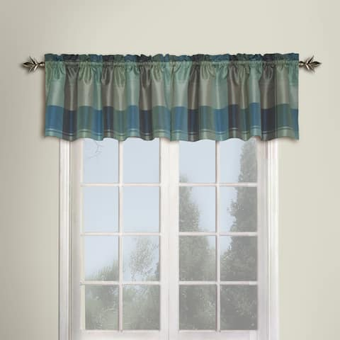 Luxury Collection Plaid Light-Filtering Straight Valance - 18 Inch