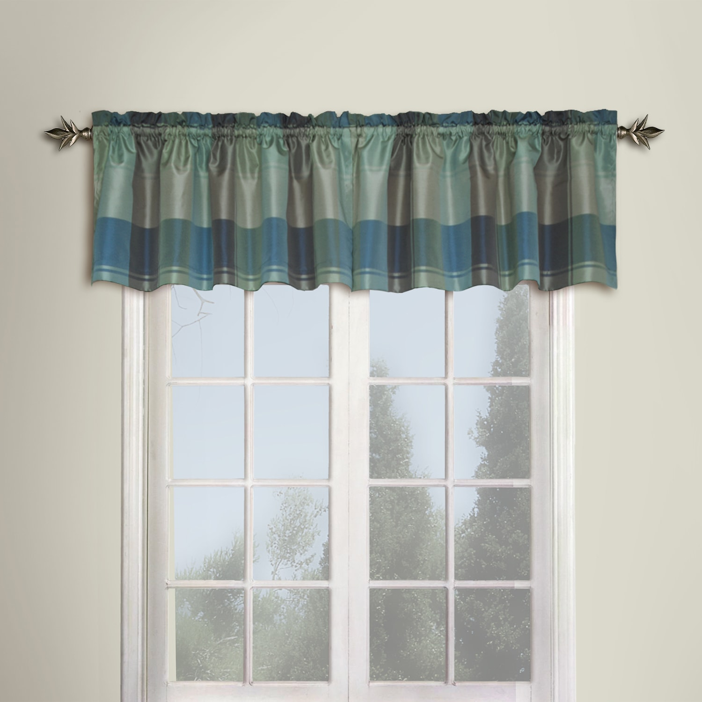 Luxury collection plaid woven window valance 54 x 18 ebay for 18 x 18 window