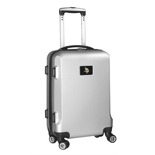 Denco Sports NFL Minnesota Vikings 20-inch Hardside Carry On Spinner Upright Suitcase (Option: Silver)