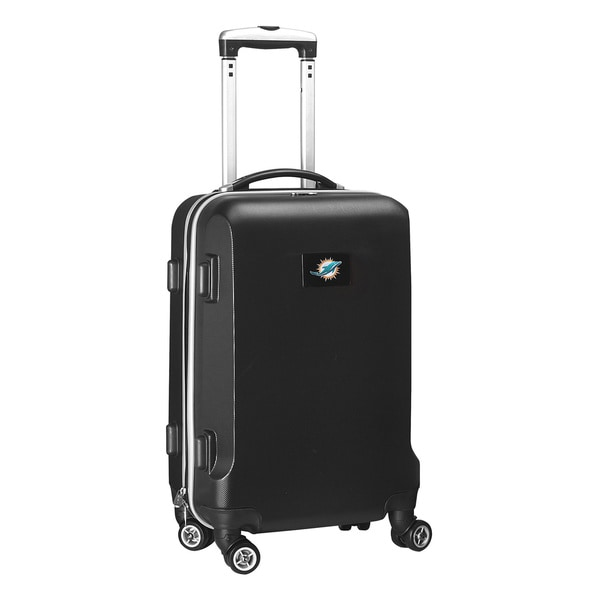 Denco Sports NFL Miami Dolphins 20-inch Hardside Carry On Spinner Upright Suitcase