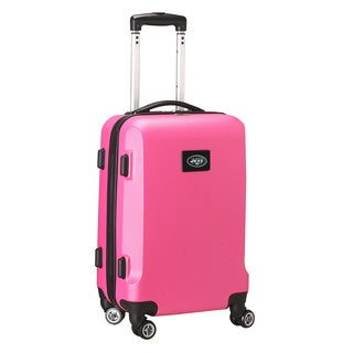 Denco Sports NFL New York Jets Pink 20-inch Hardside Carry On Spinner Upright Suitcase