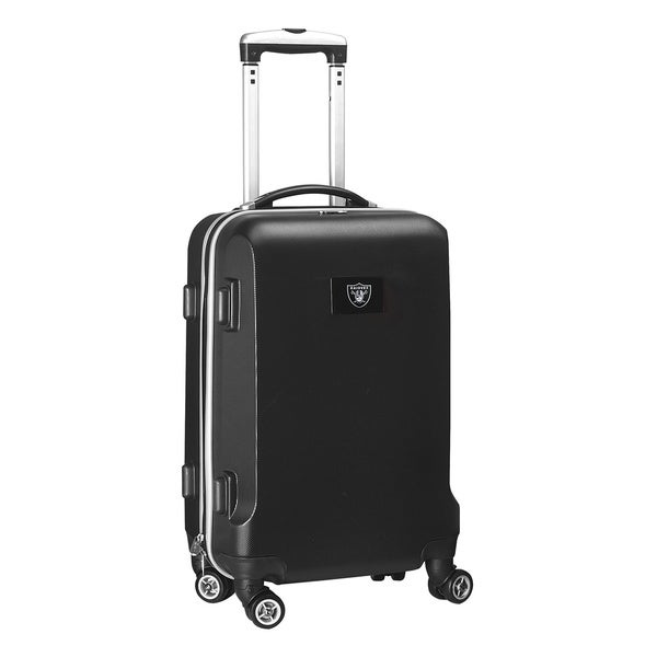Denco Sports NFL Oakland Raiders 20-inch Hardside Carry On Spinner Upright Suitcase