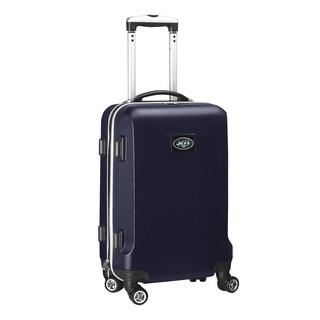 Denco Sports NFL New York Jets Navy 20-inch Hardside Carry On Spinner Upright Suitcase
