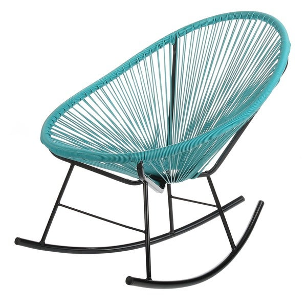 Superieur Handmade Bold Acapulco Rocking Chair, Indoor Or Outdoor, Bright Blue (China)