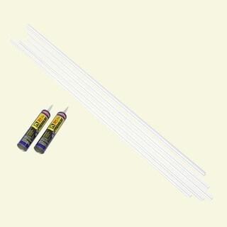 Fasade Backsplash Accessory Kit Large Profile with Adhesive Matte White