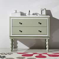 Legion Furniture 40.5-inch Lime Green Solid Wood Single Sink Vanity with Stone Top