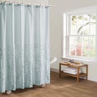 Lush Decor Esme Spa Blue Shower Curtain