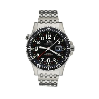 Link to Xezo Air Men's Air Commando D45-R Luxury Swiss Limited Edition Automatic Watch. 3 Time Zones - silver Similar Items in Men's Watches