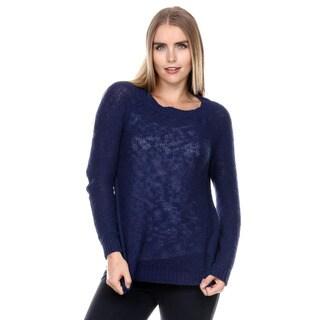 Stanzino Women's Long Sleeve Navy Sweater