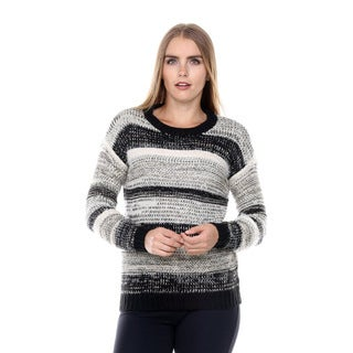 Stanzino Women's Striped Chunky Sweater