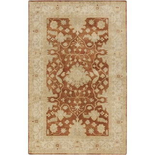 Hand-Tufted Reepham Damask Wool Area Rug - 8' x 10'
