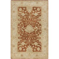 Hand-Tufted Reepham Damask Wool Area Rug - 2' x 3'