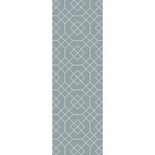 Hand-Stitched Javier Geometric Wool Rug (2'6 x 8')