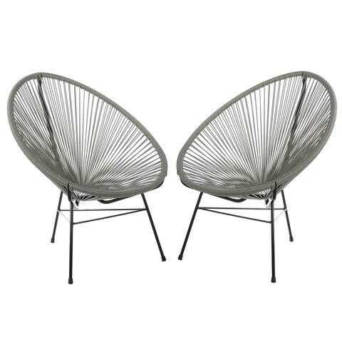 Handmade Acapulco Basket Lounge Chair, Set of 2
