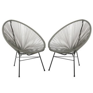 Set of 2 Acapulco Basket Lounge Chairs