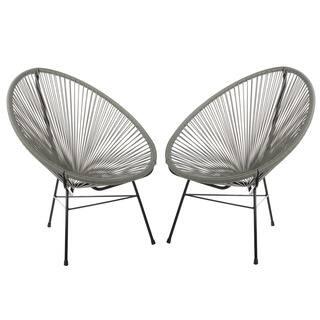 Set of 2 Acapulco Basket Lounge Chairs