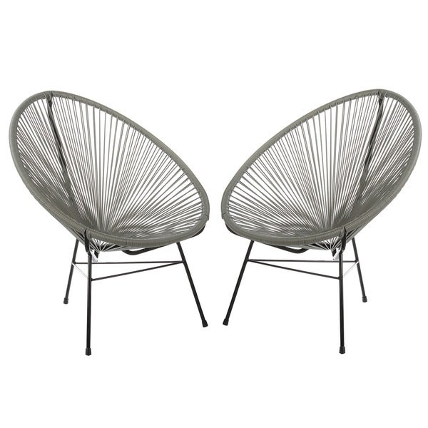 Handmade Acapulco Basket Lounge Chair, Set of 2. Opens flyout.